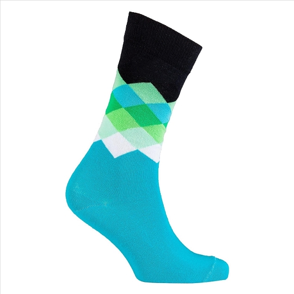 Men's Diamond Crew Socks #1042