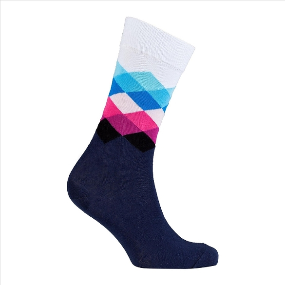 Men's Diamond Crew Socks #1043