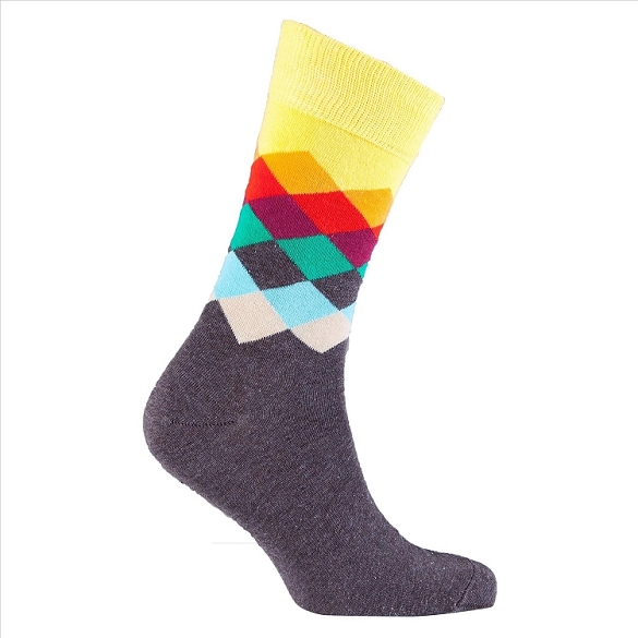Men's Diamond Crew Socks #1044