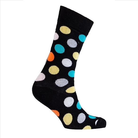 Men's Polka Dot Crew Socks #1057