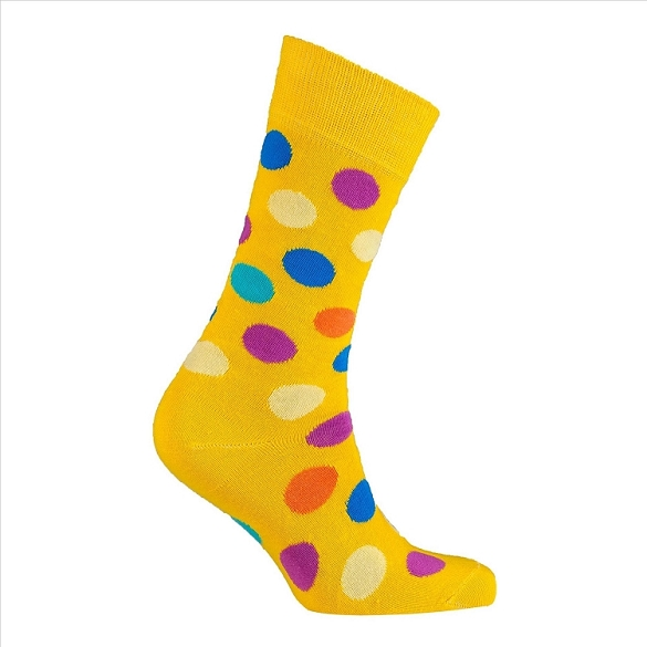 Men's Polka Dot Crew Socks #1058