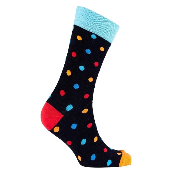 Men's Polka Dot Crew Socks #1065