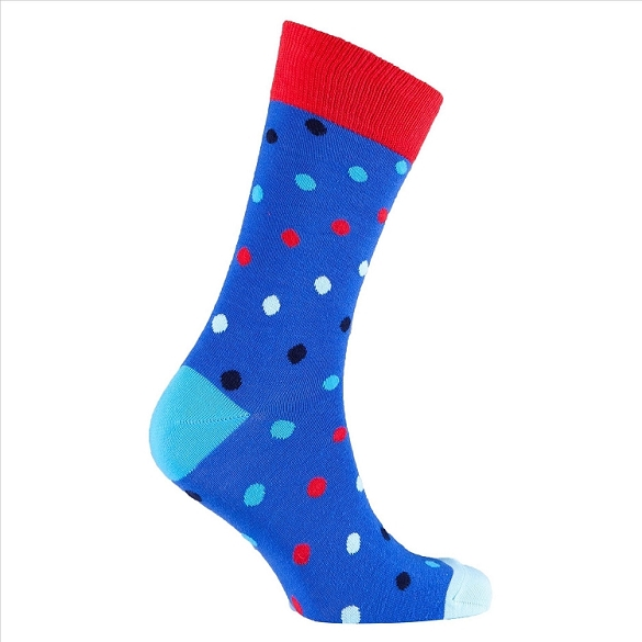 Men's Polka Dot Crew Socks #1066