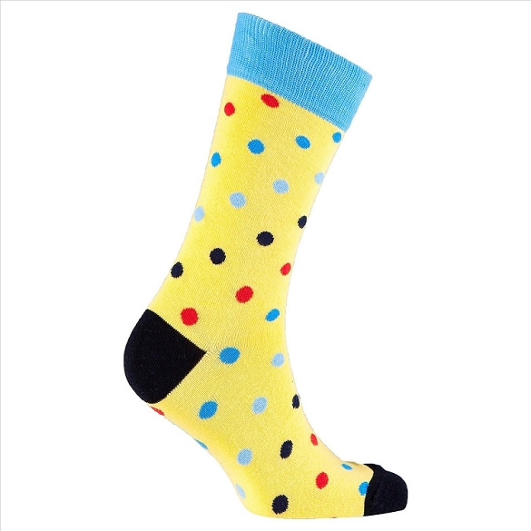 Men's Polka Dot Crew Socks #1067
