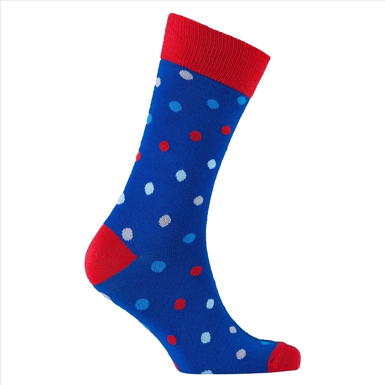 Men's Polka Dot Crew Socks #1068