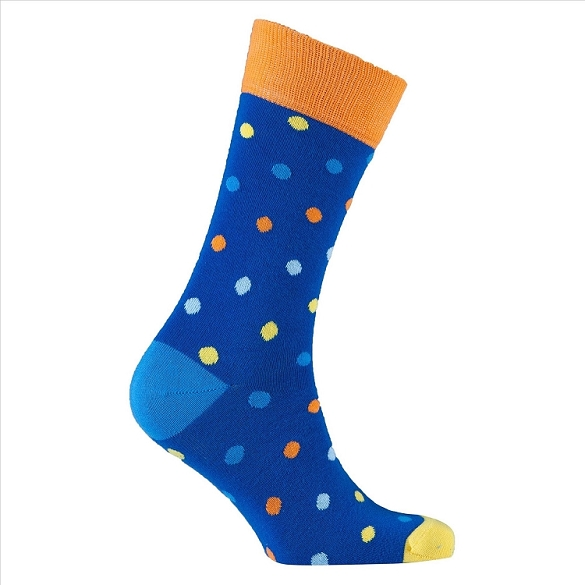 Men's Polka Dot Crew Socks #1069