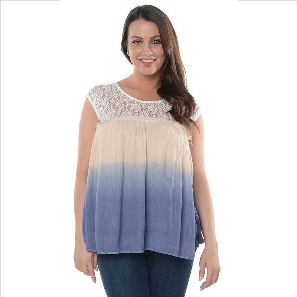 Breezy Lace Top - Blue