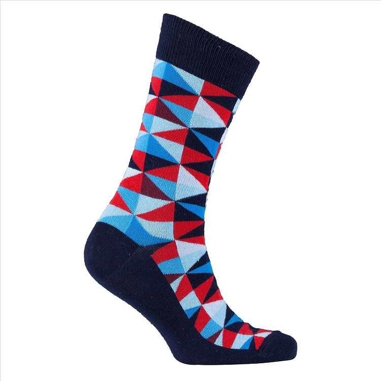 Men's Traingle Crew Socks #1137