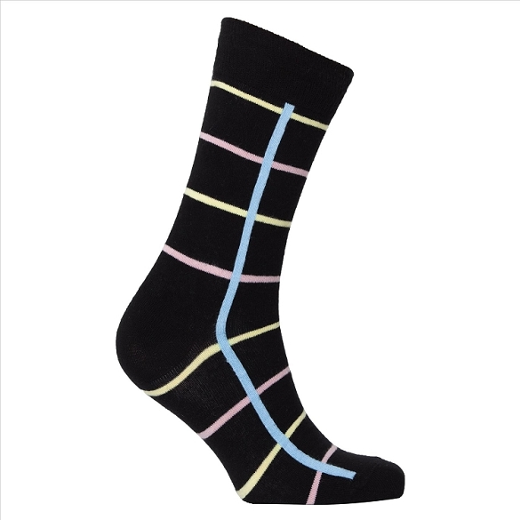 Men's Patterned Crew Socks #1145