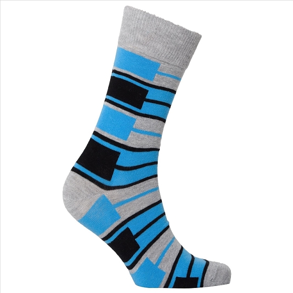 Men's Patterned Crew Socks #1148