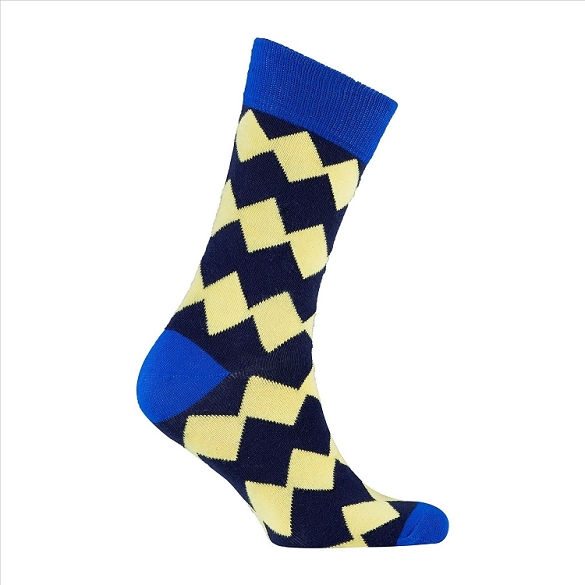 Men's Patterned Crew Socks #1150