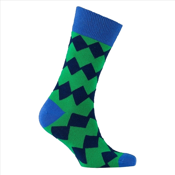 Men's Patterned Crew Socks #1151