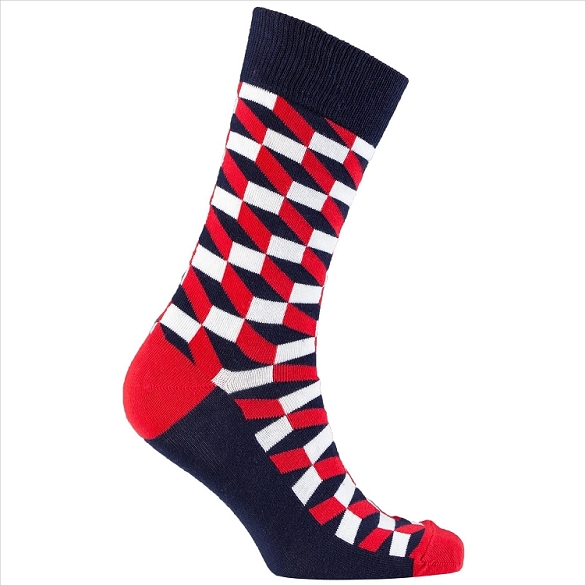 Men's Patterned Crew Socks #1152