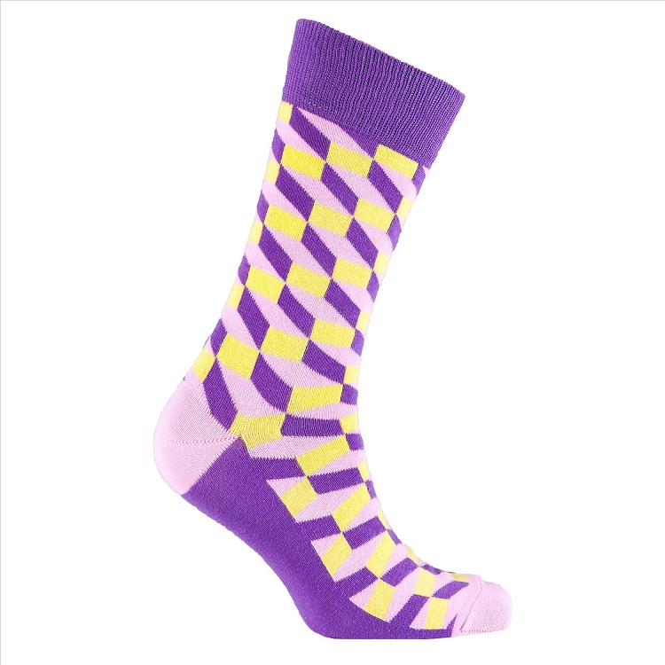 Men's Patterned Crew Socks #1153