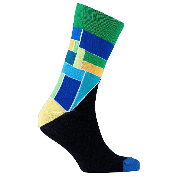 Men's Patterned Crew Socks #1159