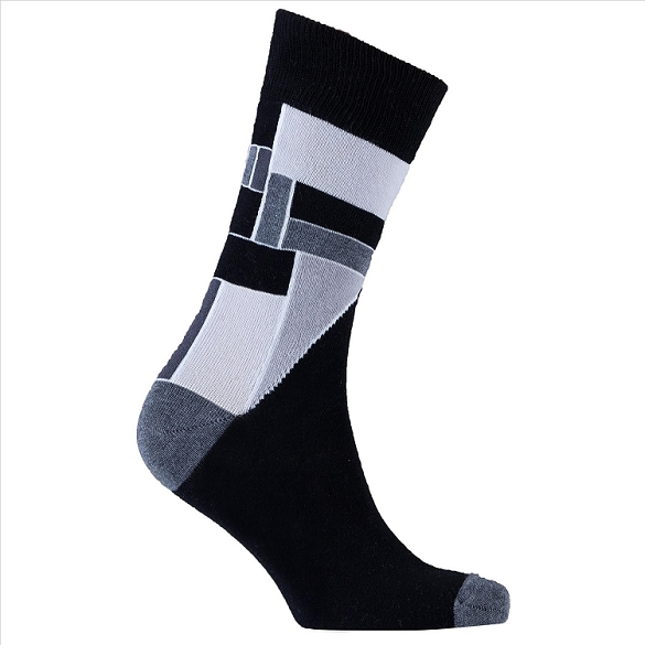 Men's Patterned Crew Socks #1160