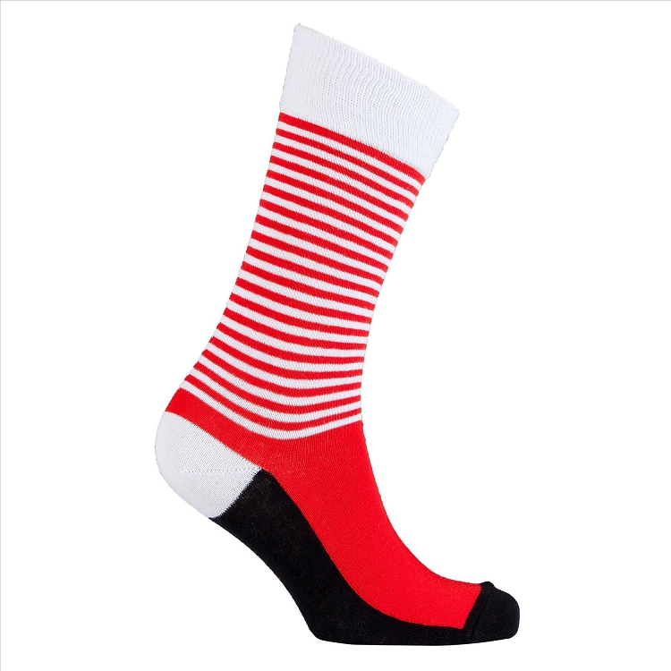 Men's Solid Stripes Crew Socks #1185