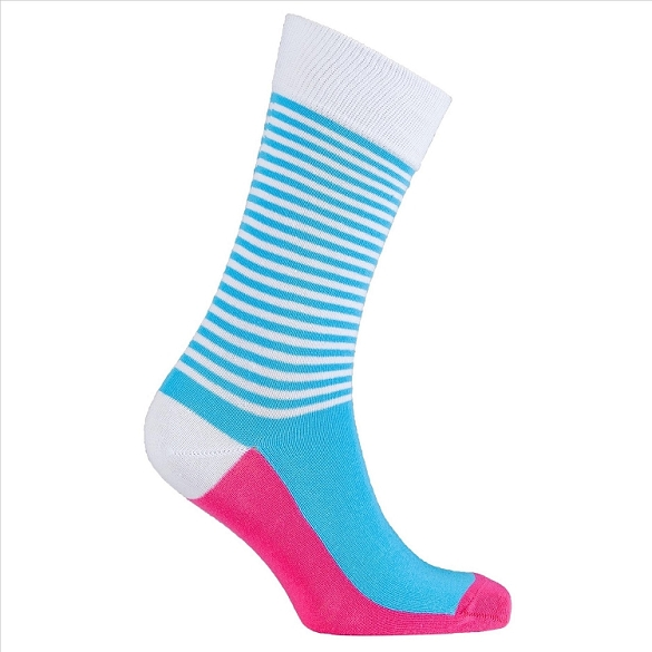 Men's Solid Stripes Crew Socks #1186