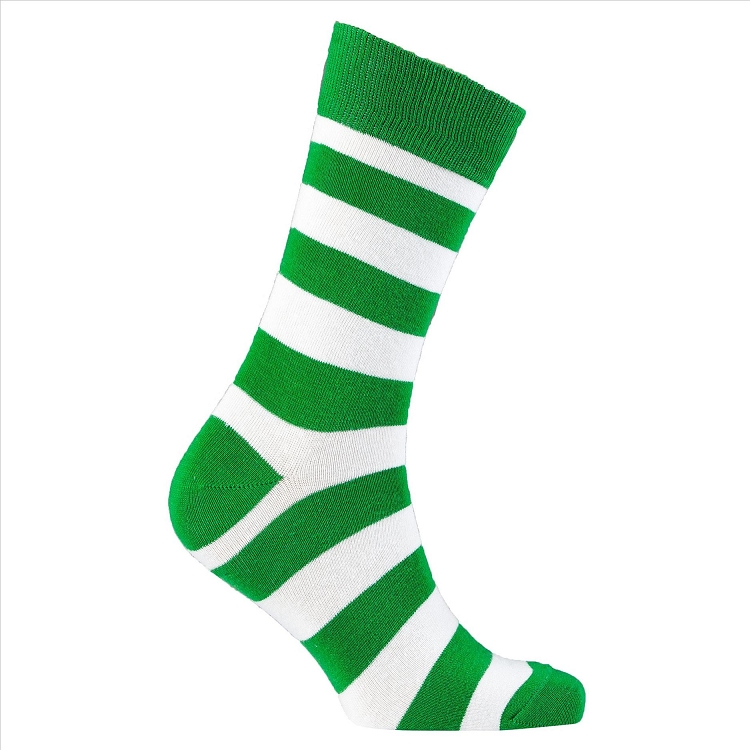 Men's Striped Crew Socks #1204
