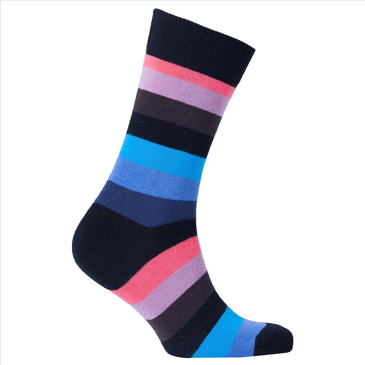 Men's Striped Crew Socks #1208