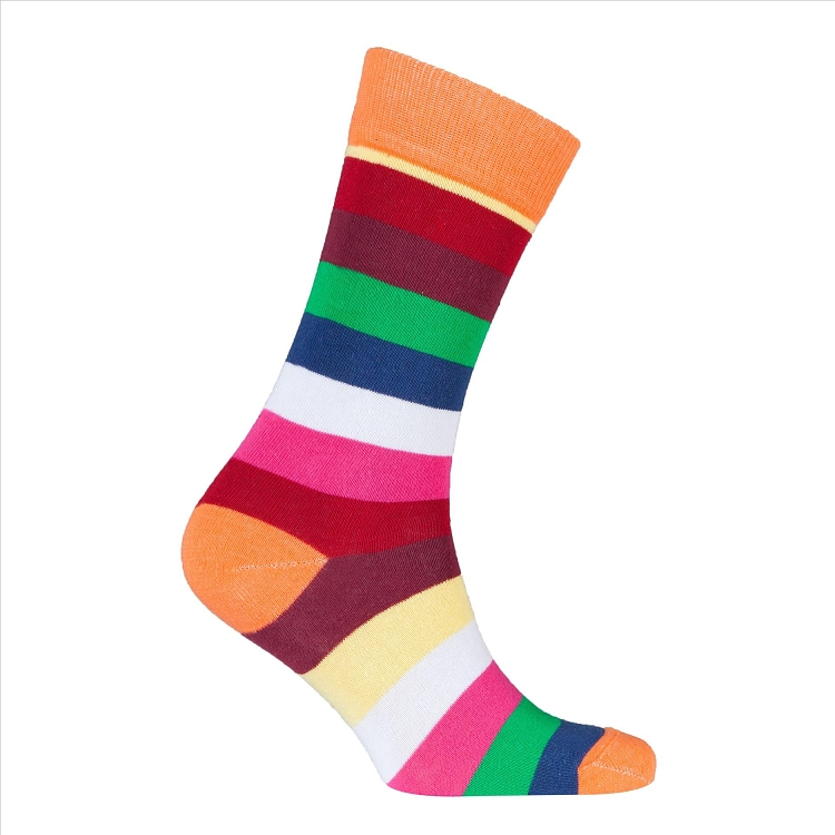 Men's Striped Crew Socks #1236
