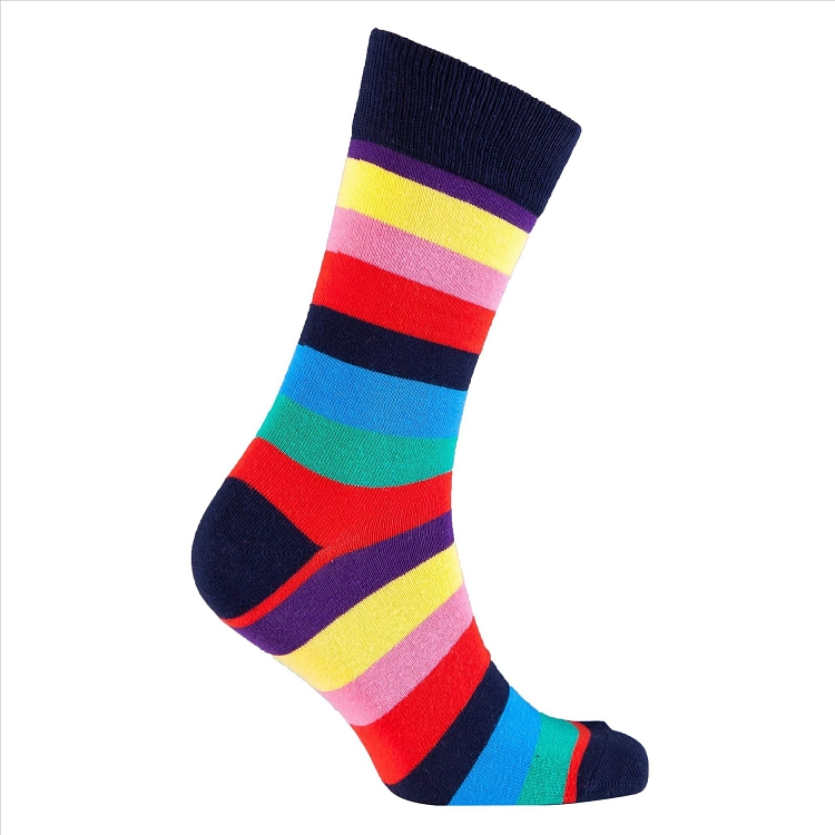 Men's Striped Crew Socks #1238