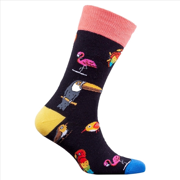 Men's Exotic Birds Socks #1310