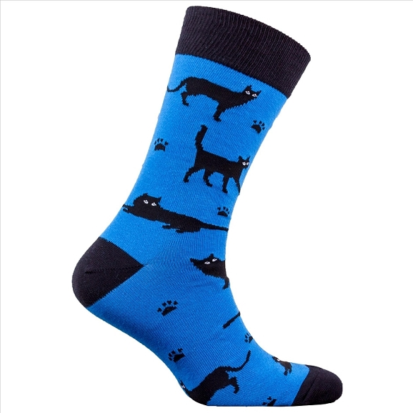 Men's Black Cat Socks #1325