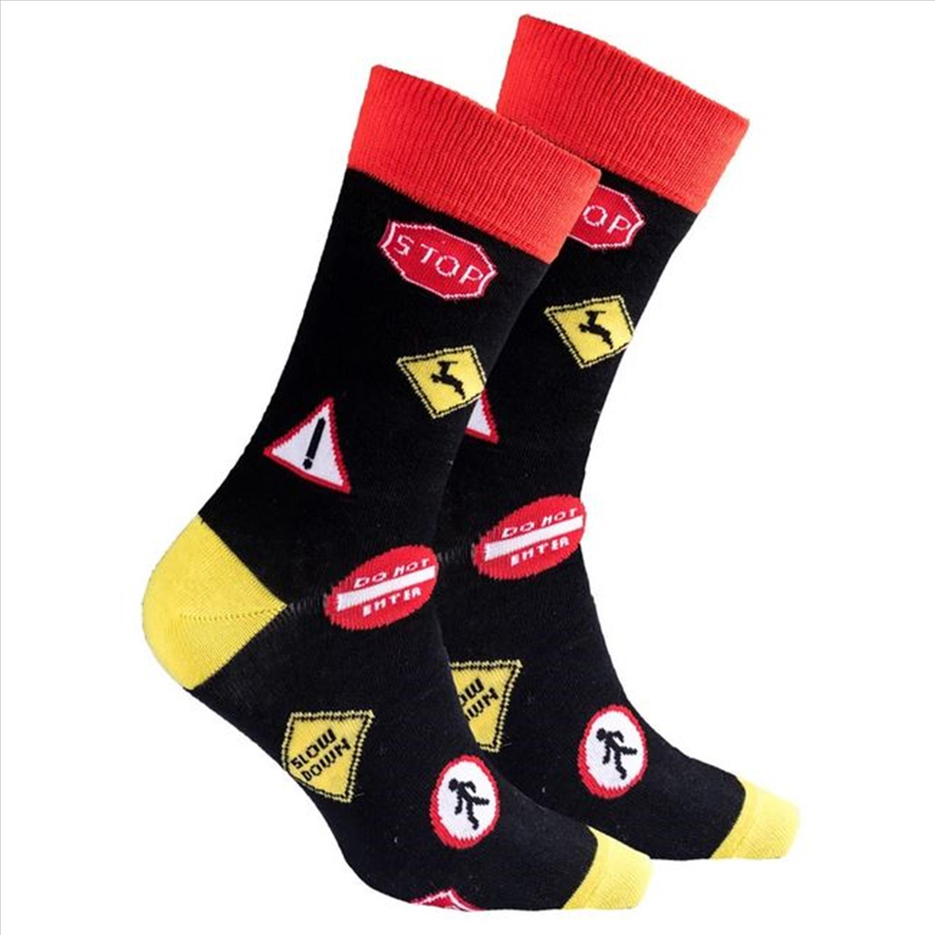 Men's Traffic Signs Socks #1436