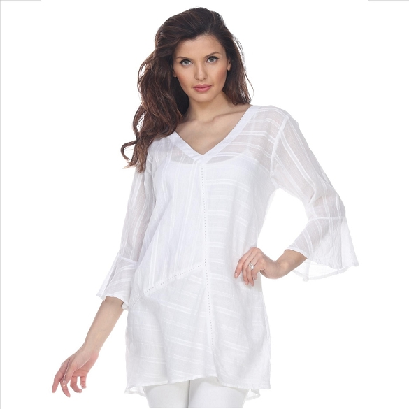 Bell Sleeve Tunic - White
