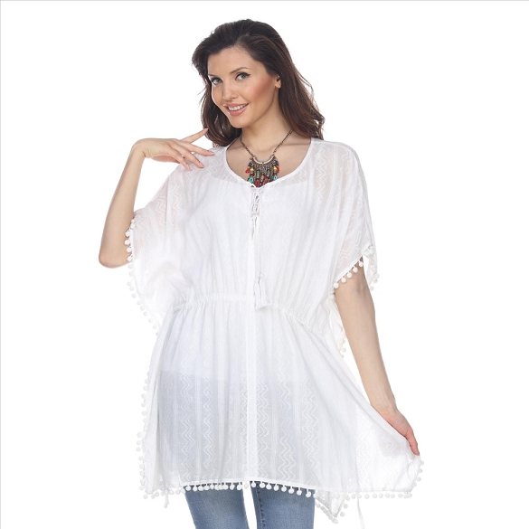 Cinch Waist and Ball Tassel Tunic