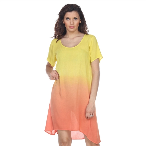 Casual Ombre Dress - Yellow