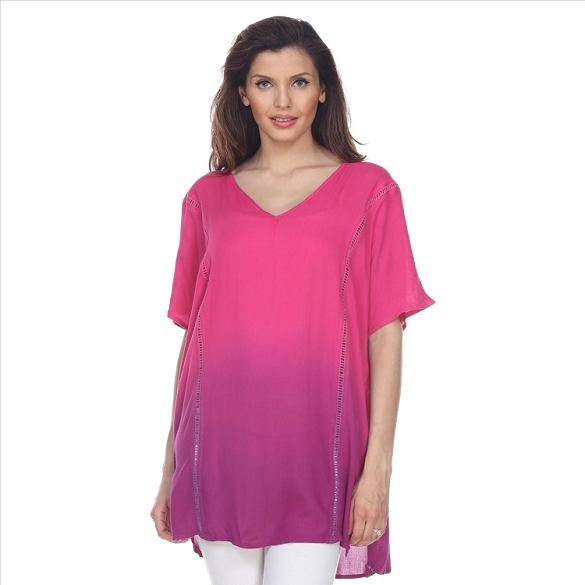 Ombre Short Sleeve Tunic - Fuchsia