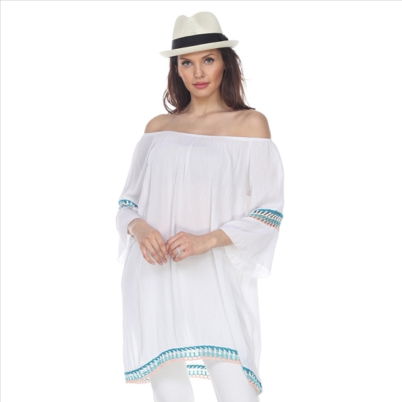 Casual Peasant Tunic- White