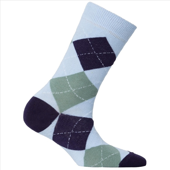 Women's Argyle Crew Socks #4013