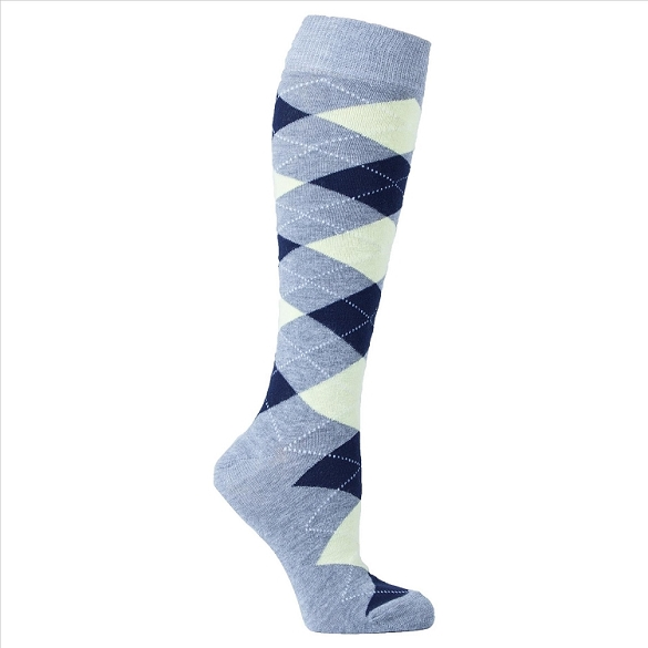 Women's Argyle Knee Highs #4137