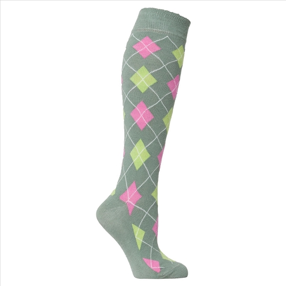 Women's Argyle Knee Highs #4148
