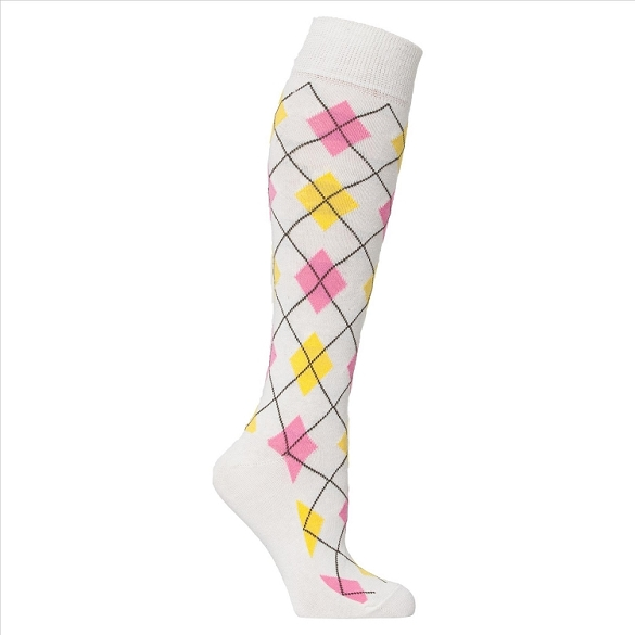 Women's Argyle Knee Highs #4149