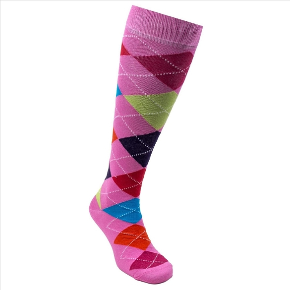 Women's Argyle Knee Highs #4153