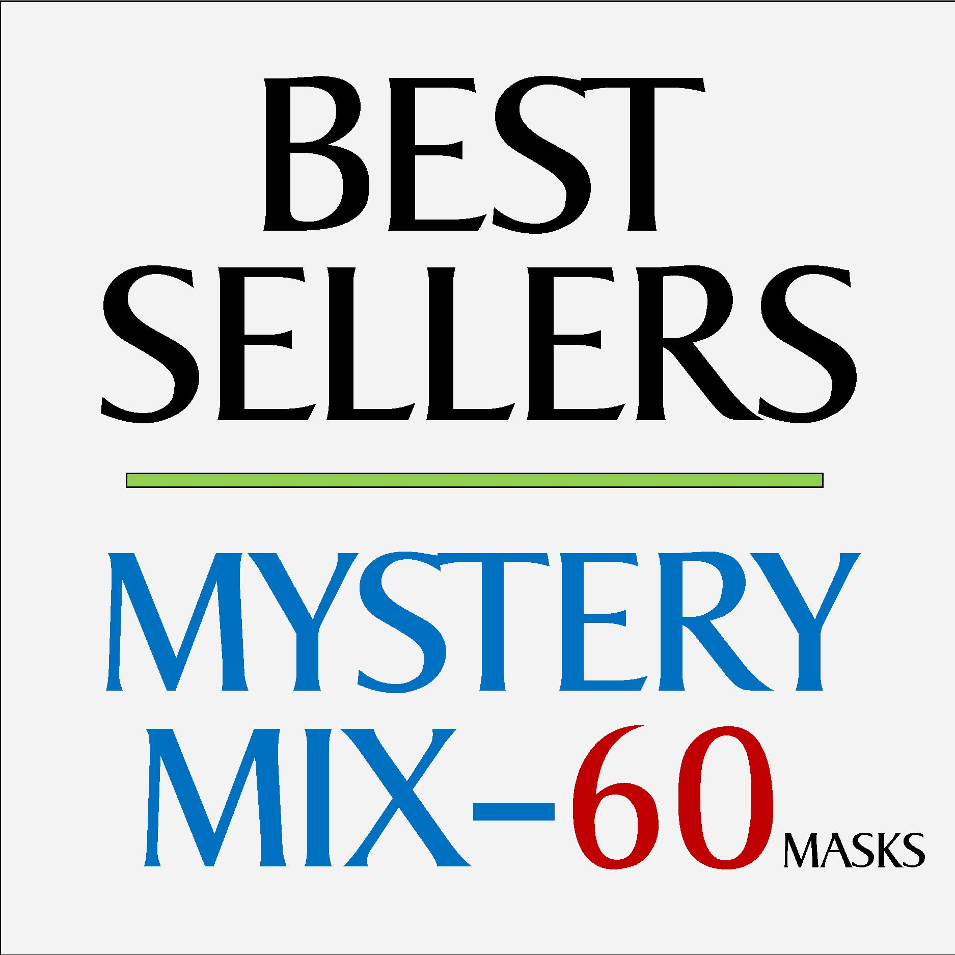 Mystery Mix Face Masks - 60 Pack