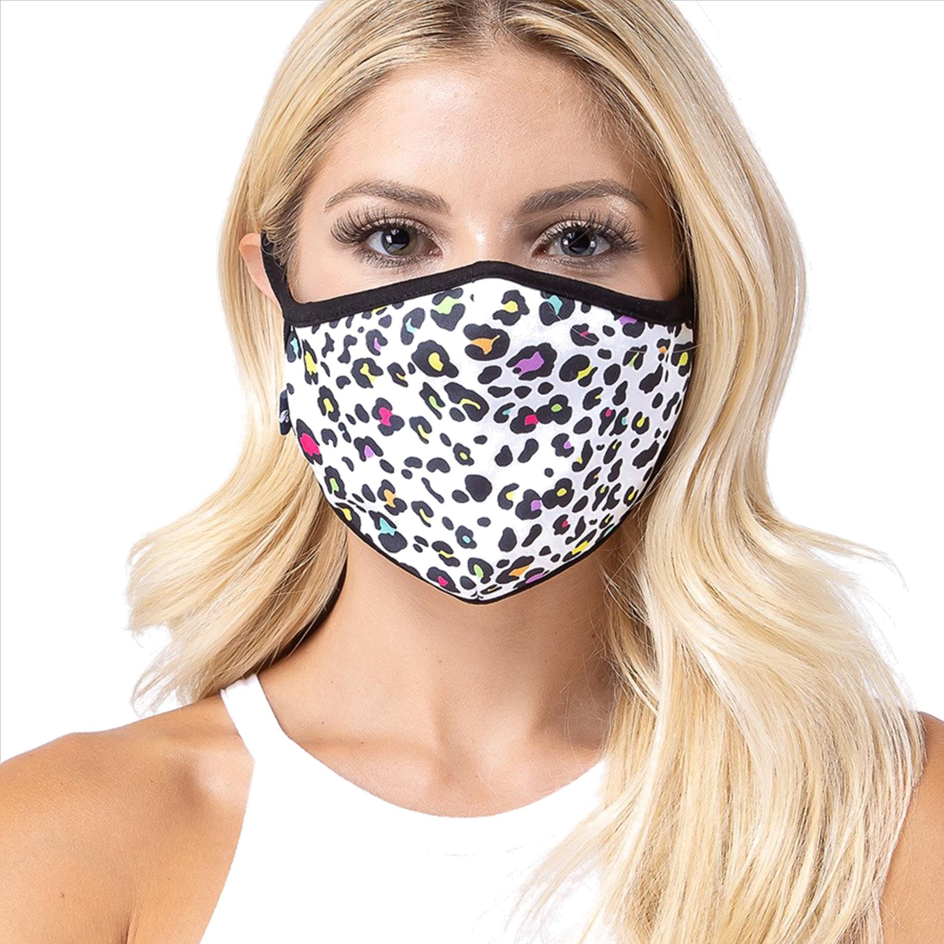 White Animal Face Mask - 3 Pack