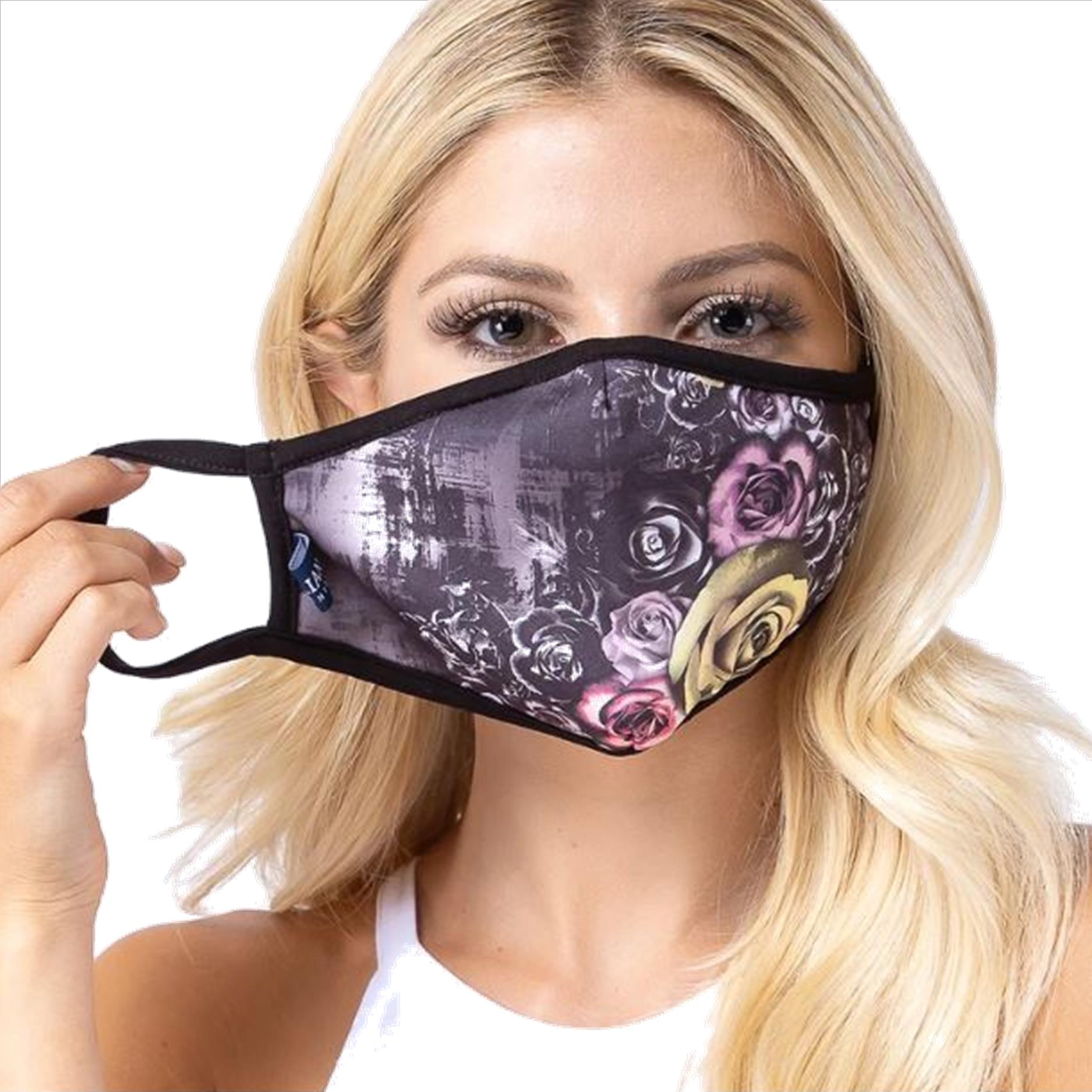 Poison Rose Print Face Mask