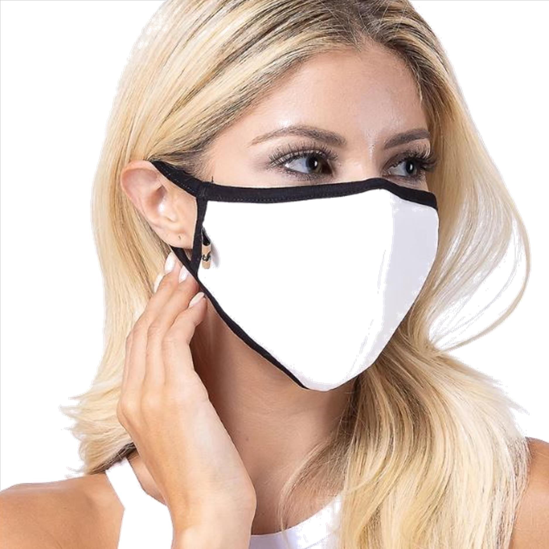 White Solid Filter Washable and Reusable Face Mask