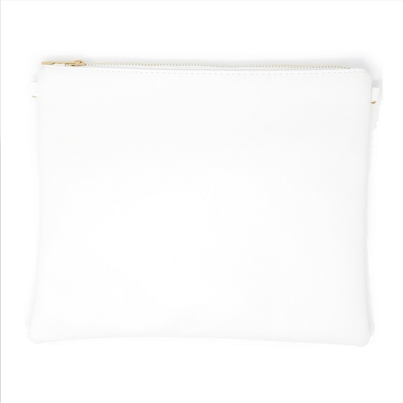 Solid White Crossbody Bag