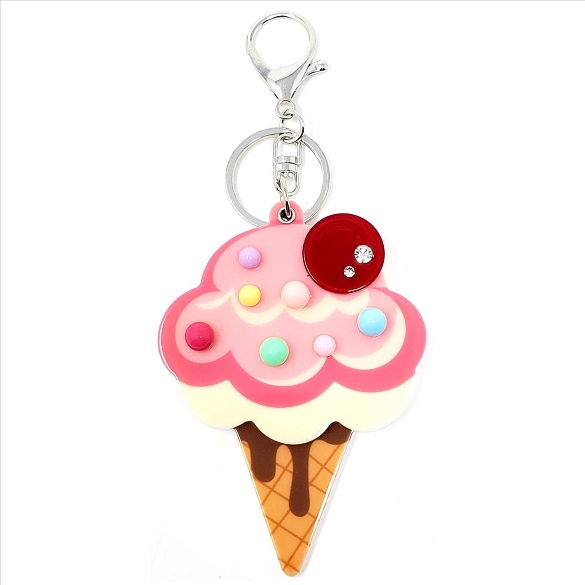 Ice Cream Cone Keychain / Mirror