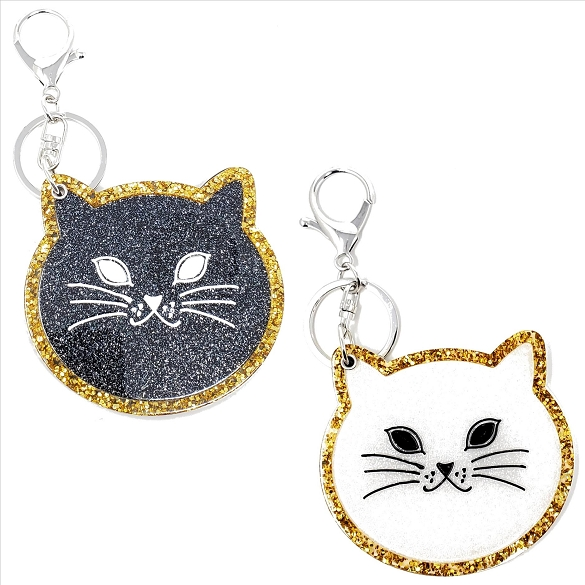 Assorted Cat Keychain / Mirror