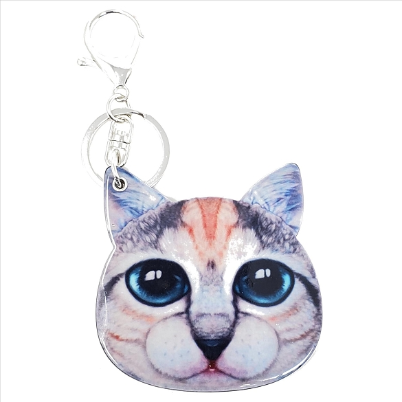 Blue Eyed Kitty Keychain / Mirror