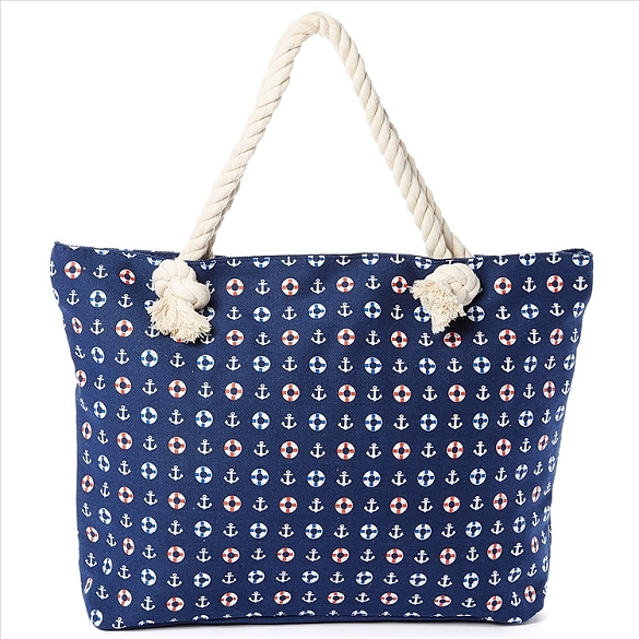 Anchors Away Beach Bag - Navy