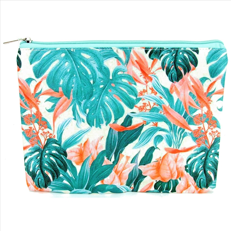 Leaves and Flowers Cosmetic Bag