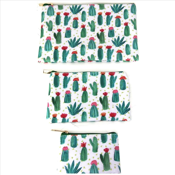 3 in 1 Cosmetic Bags - Cactus World